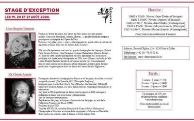 Stage d' Exception 19 au 21 août 2020
